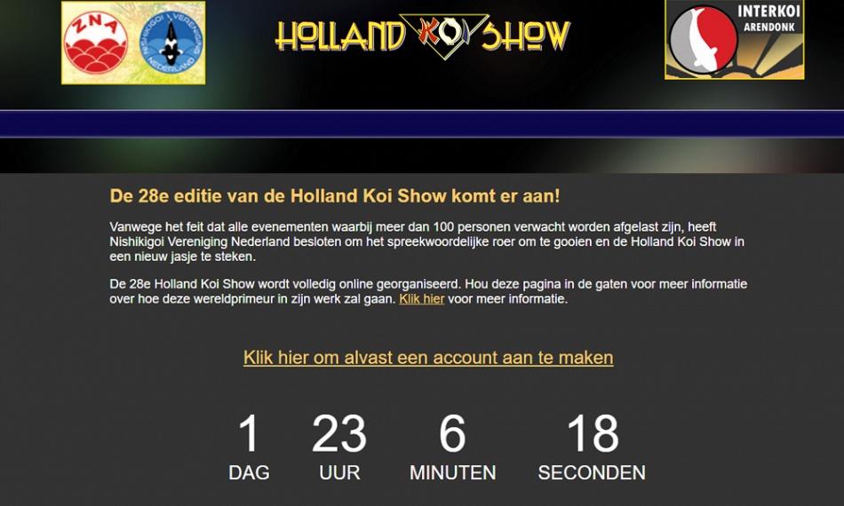 De online Holland Koi Show. Hoe werkt het