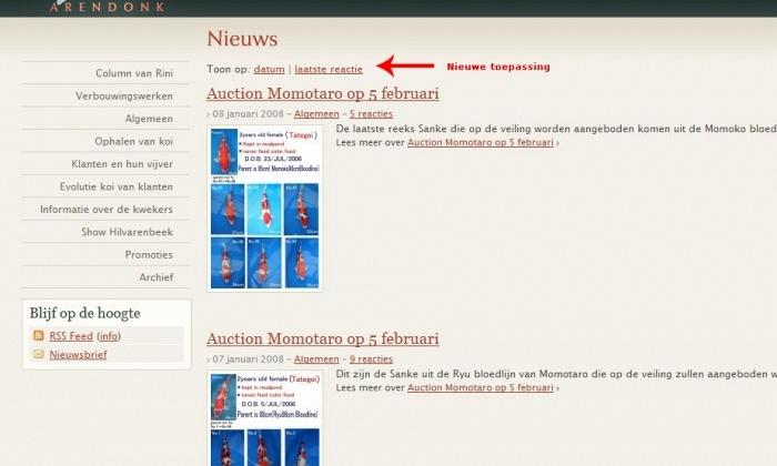 Nieuw detail onderdeel van de Website